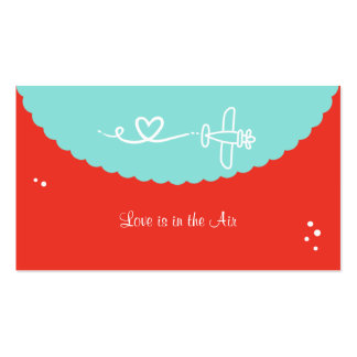 El amor está en las tarjetas de visita del aire