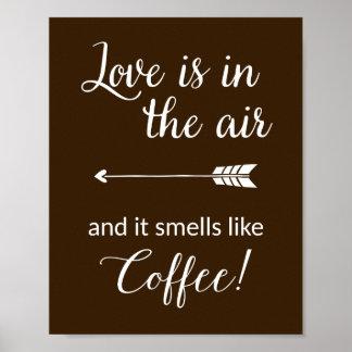 El amor está en los olores del aire como la póster