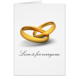 El amor está para cada uno tarjeta de felicitación