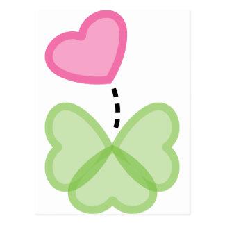 El amor está para el afortunado postales
