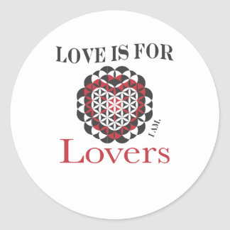 El amor está para la geometría sagrada de los pegatina redonda