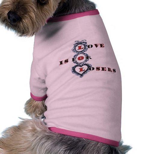 El amor está para la tarjeta del día de San Valent Camiseta Con Mangas Para Perro