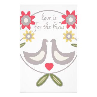 El amor está para los pájaros papeleria de diseño