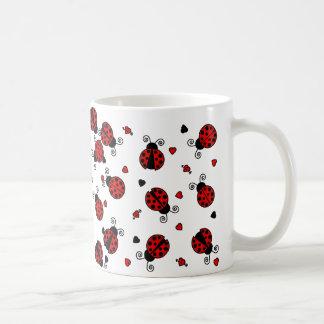 El amor fastidia mariquitas rojas tazas