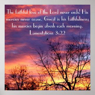 El amor fiel del poster del verso de la biblia del