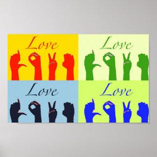 El amor firma arte pop póster