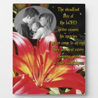 El amor firme del señor… /photo placas para mostrar