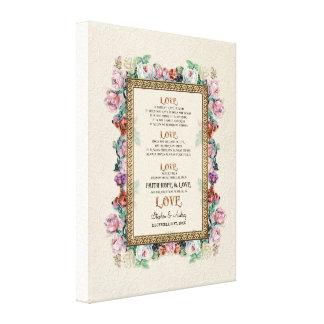 El amor floral del brocado del oro es el casarse p lona envuelta para galerías