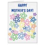 El amor florece la tarjeta del día de madre