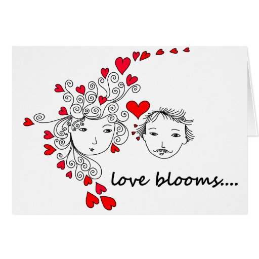 El amor florece… tarjeton