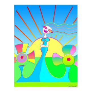 El amor florecerá: Ella brilla todo el demasiado Postal