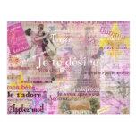 El amor francés romántico expresa el arte de París Postal