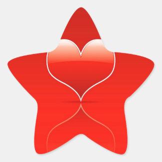 El amor fresco abstracto destroza calcomania forma de estrella personalizadas