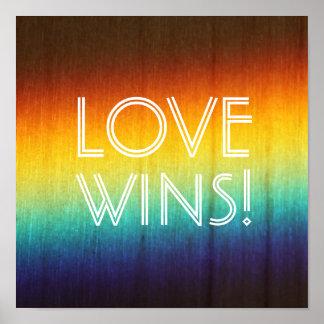 El amor gana el poster del orgullo gay del póster