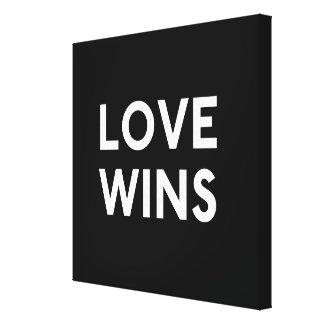 El amor gana la impresión envuelta lona de B&W Lona Estirada Galerías
