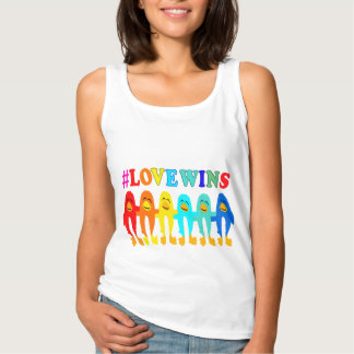El amor gana las camisetas sin mangas de los