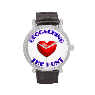 el amor Geocasching, ama la caza Relojes De Pulsera