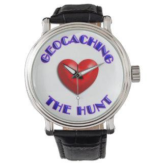 el amor Geocasching, ama la caza Relojes De Mano