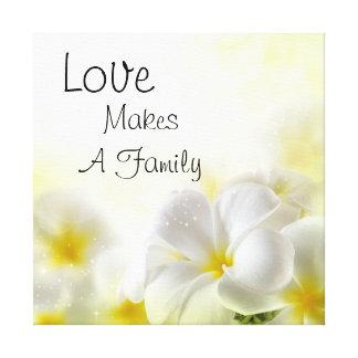 El amor hace a una familia lona estirada galerías