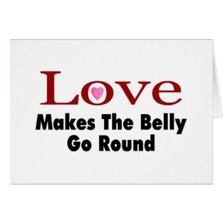 El amor hace que el Belly va alrededor Tarjetón