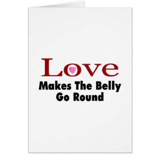 El amor hace que el Belly va alrededor Tarjeton