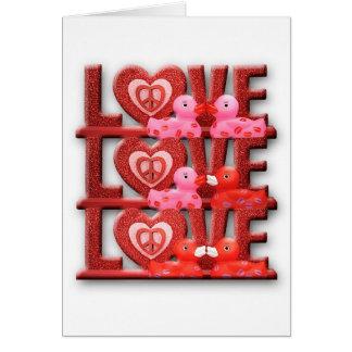 El amor hace que el mundo va 'redondo tarjeta de felicitación