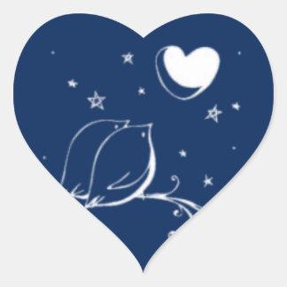 El amor hace una oferta el sello del boda pegatina corazón