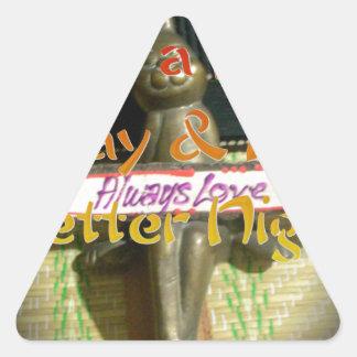 El amor Hakuna Matata de Alwaus tiene un día Pegatina Triangular