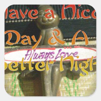 El amor Hakuna Matata de Alwaus tiene un día Pegatina Cuadrada