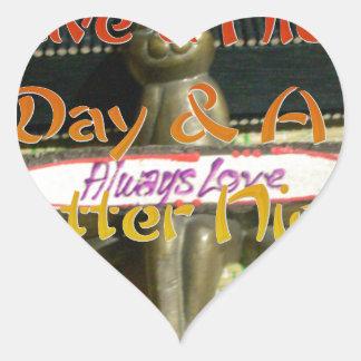 El amor Hakuna Matata de Alwaus tiene un día Pegatina En Forma De Corazón