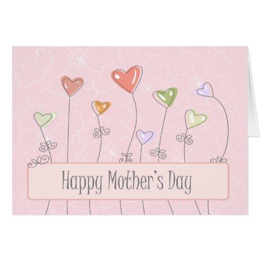 El amor hincha la tarjeta feliz del día de madres