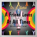 El amor honra Poster-Personalizar de la amistad