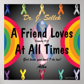 El amor honra Poster-Personalizar de la amistad Póster