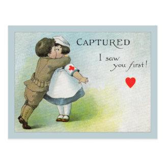 El amor I le consideró primero Postal
