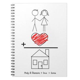 El amor iguala el cuaderno casero