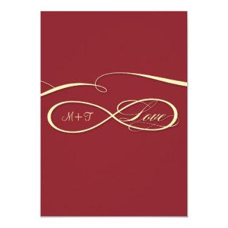 """El amor infinito de la muestra del símbolo del invitación 5"""" x 7"""""""