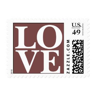 El amor invita a rojo toscano sellos