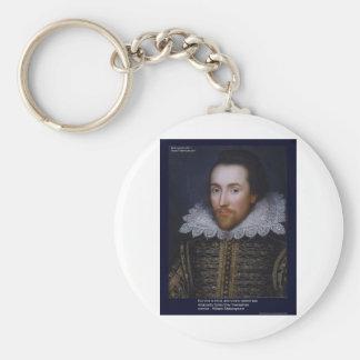 El amor/las persianas de Shakespeare cita en las t Llaveros Personalizados