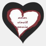 El amor latino conquista a todos los pegatinas del calcomania de corazon personalizadas