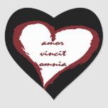 El amor latino conquista a todos los pegatinas del pegatina en forma de corazón