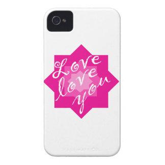 El amor, le ama carcasa para iPhone 4 de Case-Mate