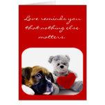 El amor le recuerda tarjeta de felicitación del pe
