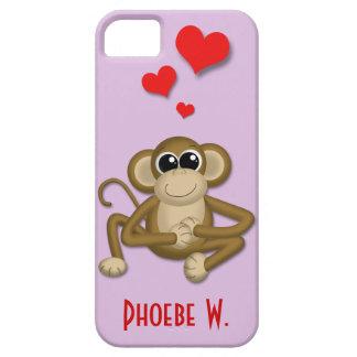 El amor lindo del mono personalizó la caja del iPh iPhone 5 Case-Mate Coberturas
