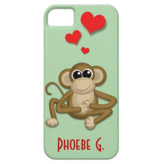 El amor lindo del mono personalizó la caja del iPh iPhone 5 Case-Mate Funda