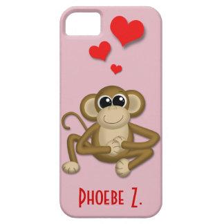 El amor lindo del mono personalizó la caja del iPh iPhone 5 Case-Mate Protectores