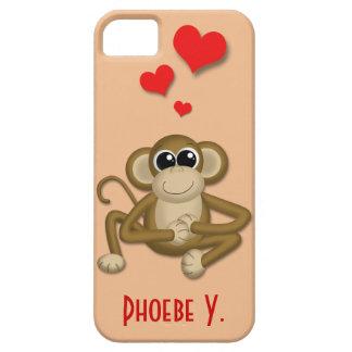 El amor lindo del mono personalizó la caja del iPh iPhone 5 Fundas