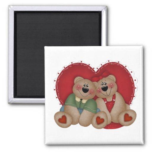 El amor lleva el regalo del el día de San Valentín Imán Para Frigorifico