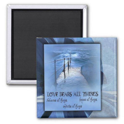 El amor lleva todas las cosas imán para frigorifico