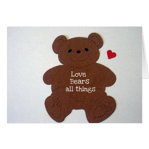 El amor lleva todas las cosas tarjeton