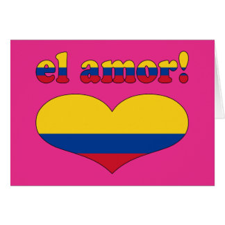 El Amor! - Love in Colombian Valentine's Day Card